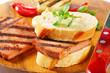 Grilled Leberkase sandwich