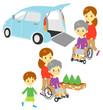 車椅子 福祉車両 家族 ドライブ 散歩
