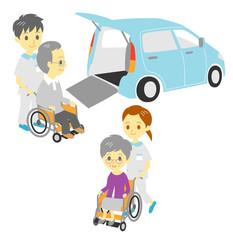 車椅子 福祉車両 介護士 看護師