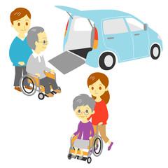 車椅子 福祉車両 お年寄り 家族