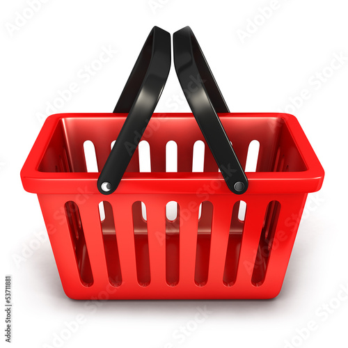 3d empty shopping basket
