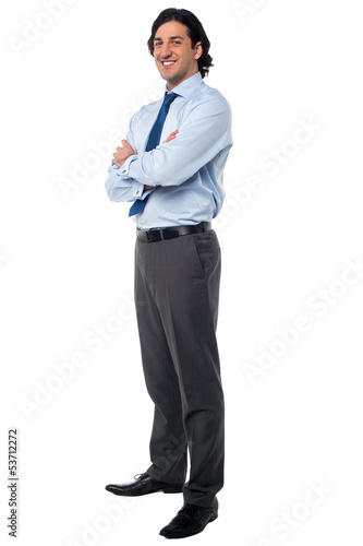 Business male in formals, full length portrait