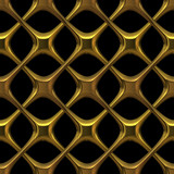 Fancy golden chainlink - seamless texture
