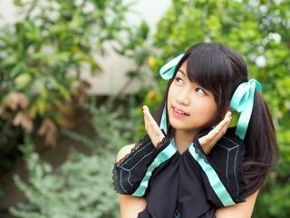 Pretty cosplay girl