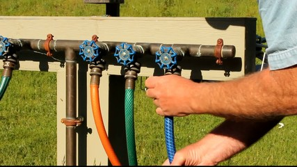 connecting a garden hose