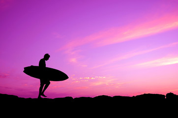 Purple Sky Surfer