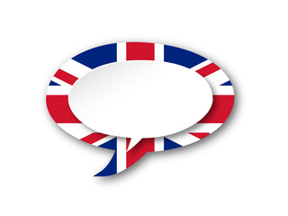 ENGLISH LANGUAGE Icon (england uk flag speech bubble button)