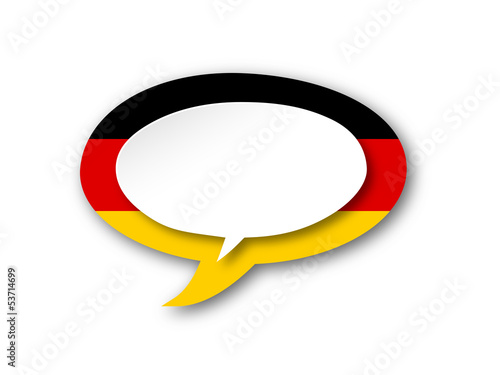 GERMAN LANGUAGE Icon (germany flag speech bubble deutsch button)