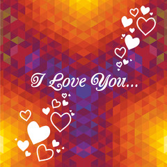 Abstract  love vector background. Greeting card