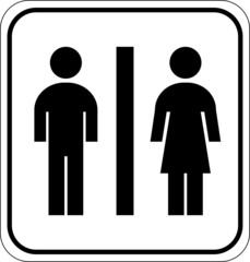 Pictogram bathroom sign