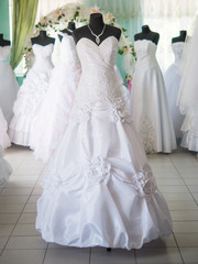 wedding dresses on dummies