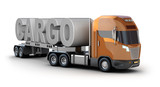 Modern truck with cargo word