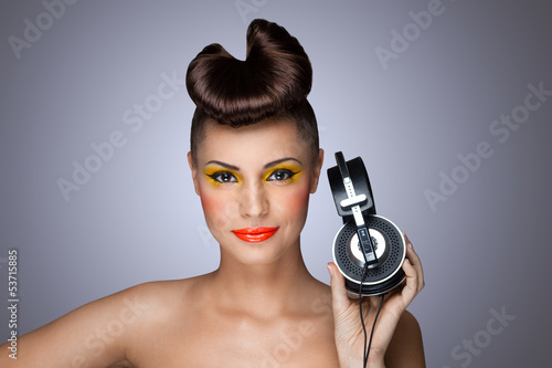 The headphones fashion.