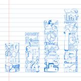 Business Doodle Bar Graph