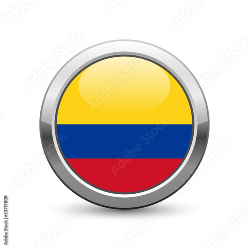 Colombian flag icon web button