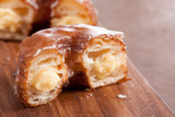 Cream croissant and doughnut mixture