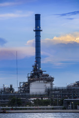 Refinery industrial plant in Bangkok Thailand.