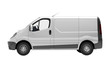 White commercial van isolated