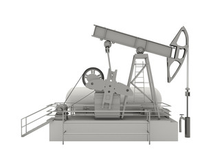 Pumpjack isolated