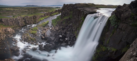 waterfall in thingvellir