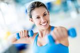 Gym woman weightlifting