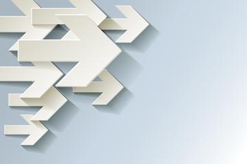 Pfeil Weiter Ecke Hintergrund Weiß Papier Kalt Frost