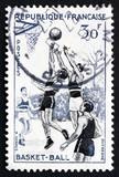 Postage stamp France 1956 Basketball, Team Sport poster
