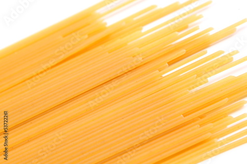 Spaghetti bias on the white background