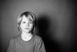 Frightened boy alone