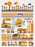 Fototapety farming info graphic