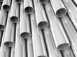 3D chrome tubes - high technology background.
