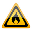 Vector fire warning sign