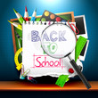 Back to school - creative vector background