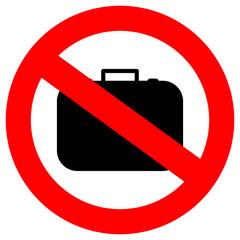 No baggage vector sign