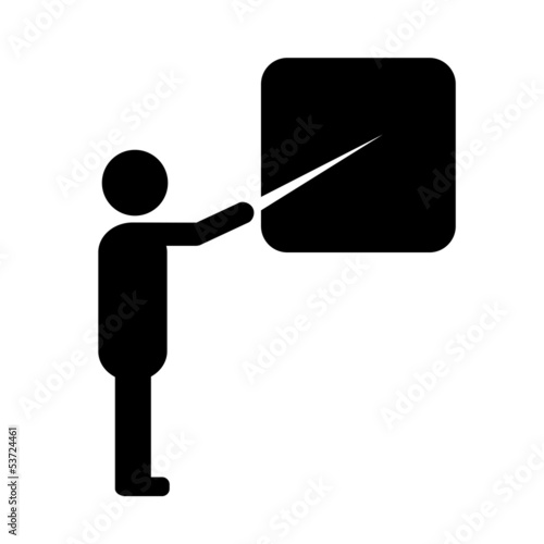 Vector teacher symbol