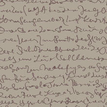Écriture / Seamless avec le script fictif