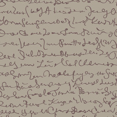 Handwriting / Seamless pattern with fictitious script
