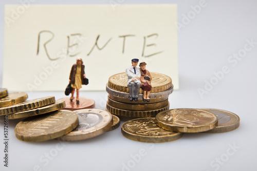 Konzept Rente und Altersvorsorge