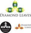 Diamond Leaves Icon Set