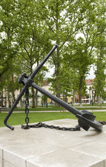 Anchor Monument in Congress Square Park Ljubljana Slovenia