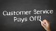 Customer service pays off Chalk Illustration