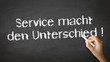 Service makes the difference (In German)