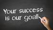 Leinwandbild Motiv Your Success is our goal Chalk Illustration