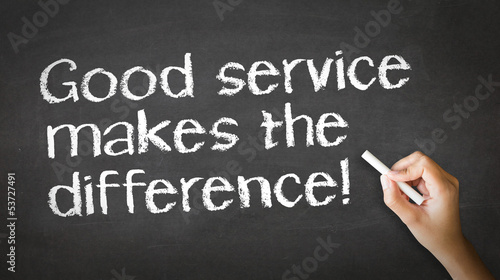 Good Service makes the difference Chalk Illustration