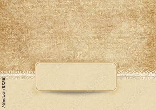 Elegant vintage background with lace