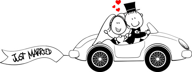 funny just married cartoon