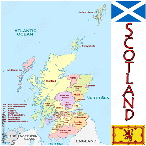 Scotland Europe national emblem map symbol motto