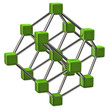 Illustration of green molecular structure
