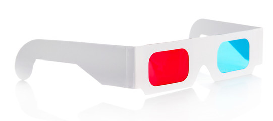 3D glasses, isolated on white