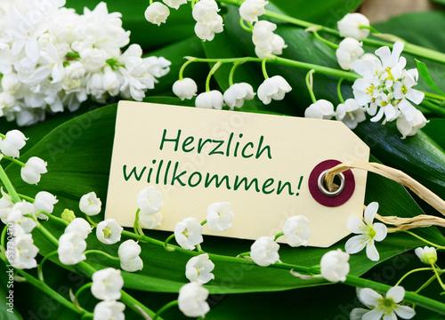 Schild, Blumen